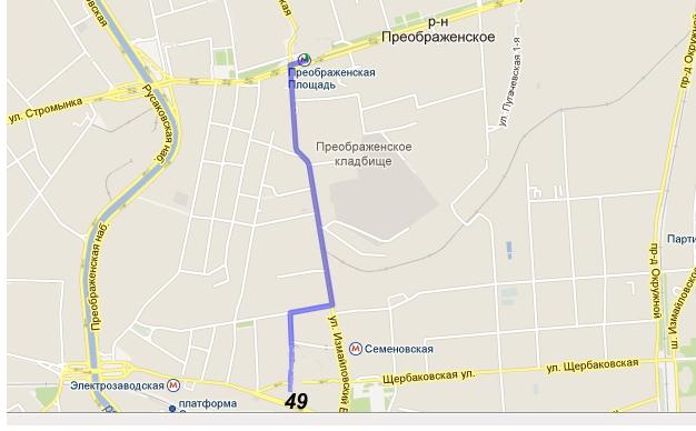 Карта М. Преображенская